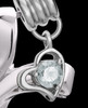 Sterling Silver April Fluid Cross Keepsake Jewelry