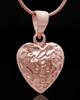 Rose Gold Plated Spooled Heart Keepsake Jewelry