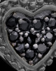 Black Plated Darkness Heart Keepsake Jewelry