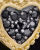 Gold Plated Darkness Heart Keepsake Jewelry