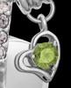 Sterling Silver August Weeping Heart Keepsake Jewelry