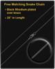 Black Stainless Millenium Cremation Pendant