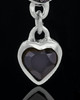 Silver Plated Trickling Heart Keepsake Jewelry