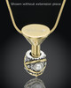 Gold Plated Stainless Millenium Cremation Pendant with Graceful Charm