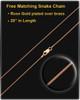 Antique Copper Stainless Millenium Ash Pendant and Sparkle Charm