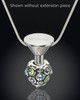 Stainless Steel Millenium Cremation Pendant with Sparkle Charm