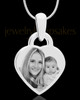 Photo Engraved Small Heart Pendant Stainless Steel