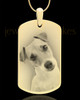 Photo Engraved Large Dog Tag Pet Pendant Gold Plated over Stainless