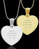 Photo Engraved Gem Heart Pet Pendant Stainless Steel