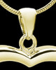 Gold Plated Leaping Love Heart Keepsake Jewelry