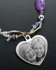 Elsie Necklace Purple Beads Heart Keepsake