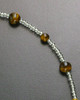 Lola Amber Bead with Stainless Steel Heart Keepsake Necklace
