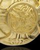 Cremains Pendant Gold Plated Irish Round Keepsake