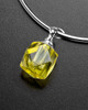 Sophisticate Yellow Cubes Cremation Bracelet