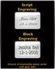 Black Follow Me Memorial Keychain