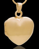 Necklace Urn Gold Plated Memory Heart Keepsake