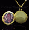 Remembrance Jewelry 14K Gold Plated Etched Sphere Keepsake