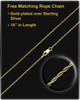 Memorial Urn Pendant 14K Gold Round Lily