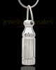 Cremation Charm Silver Plated Grand Cylinder - Eternity Collection