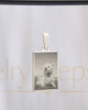 Pet Rectangle Stainless Photo Reflection Jewelry