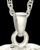 Cremation Jewelry 14K White Gold Daisy Heart Keepsake