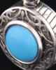 Keepsake Cremation Jewelry Sterling Silver with Turquoise