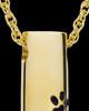 Pet Ash Pendant Gold Vermeil Paw Cylinder Keepsake