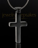 Ash Locket Stainless Steel Black Plated Memorable Cross - Eternity Collection