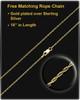 Cremation Urn Pendant 14K Gold Grooved Cylinder Keepsake