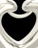 Cremation Keepsake 14K White Gold Loyalty Heart