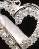 Cremation Urn Pendant 14K White Gold Glimmer Heart