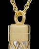 Memorial Necklace Gold Vermeil Adoration