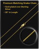 Necklace Urn Gold Vermeil Dangle Heart