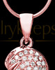 Rose Gold Soaring Spirit Cremation Urn Pendant
