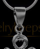 Black Heavenly Attendant Cremation Urn Pendant