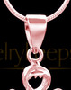 Rose Gold Heavenly Attendant Cremation Urn Pendant