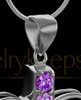Black Plated Purple Free Spirit Keepsake Jewelry
