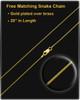 April Gold Dog Tag Photo Pendant