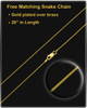 December Gold Dog Tag Photo Pendant