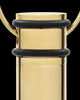 Cremation Locket Gold Plated Determination Cylinder