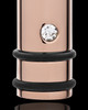 Cremation Locket Rose Gold Plated Determination Cylinder