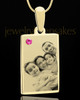October Rectangle Gold Plated Photo Engraved Pendant