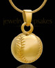 Baseball Urn Pendant in 14 Karat Yellow Gold