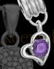 Add a February Birthstone Heart Silver