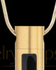 Gold Plated Soulful Cylinder Memorial Jewelry