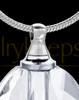 Clear Etched Glass Sphere Cremation Jewelry