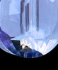 Blue Glass Globe Cremation Jewelry