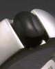 White Gold Beguiling Black Onyx Women's Ring