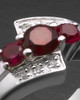 White Gold Ladies Radiant Red Cremation Ring