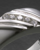 White Gold Ladies Tender Cremation Ring